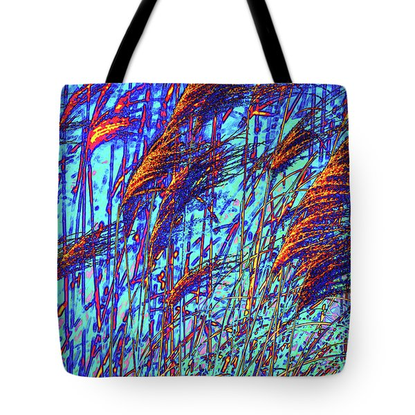 Tote Bag featuring the photograph Grass On Fire by Onyonet  Photo Studios