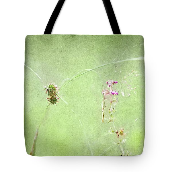 Grasses And Blooms Tote Bag
