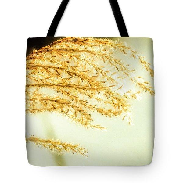Grasses Of Gold Tote Bag