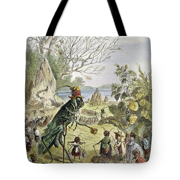 Grasshopper And Ant Tote Bag by Granger