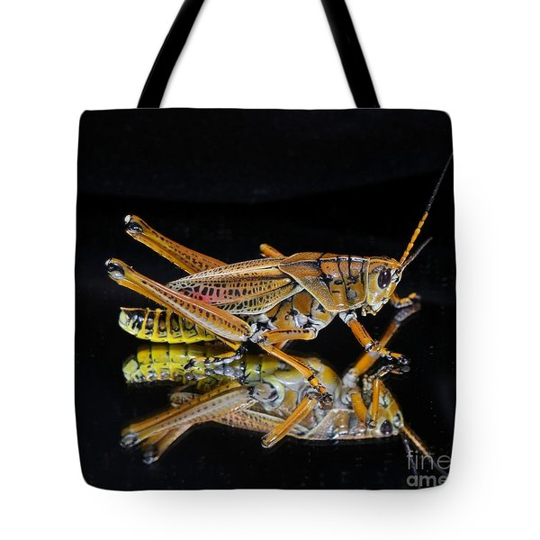 Grasshopper Reflected Tote Bag