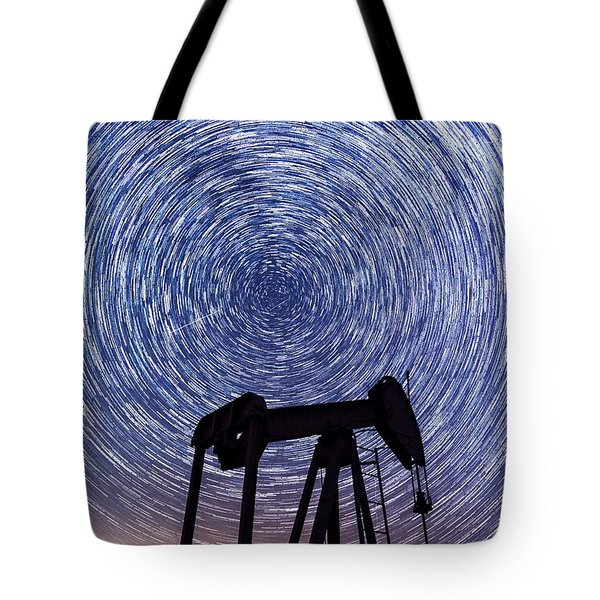 Grasshopper Star Trail Tote Bag