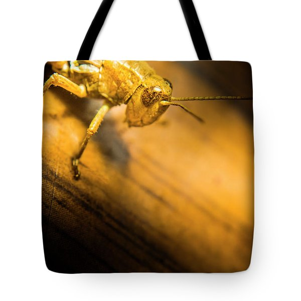 Grasshopper Under Shining Yellow Light Tote Bag