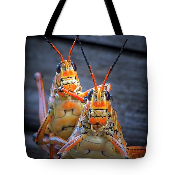 Grasshoppers In Love Tote Bag