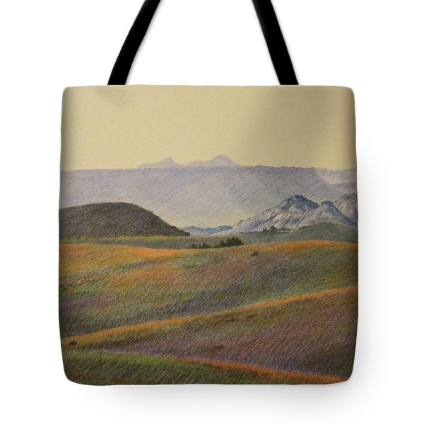 Grasslands Badlands Panel 2 Tote Bag