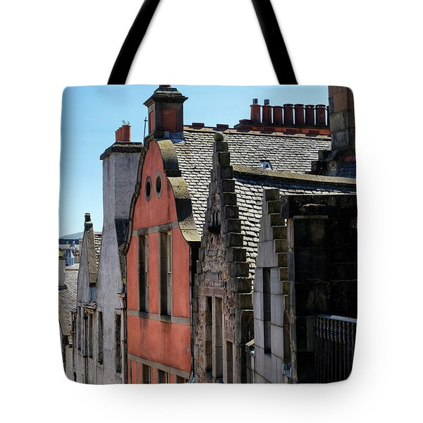 Tote Bag featuring the photograph Grassmarket In Edinburgh, Scotland by Jeremy Lavender Photography