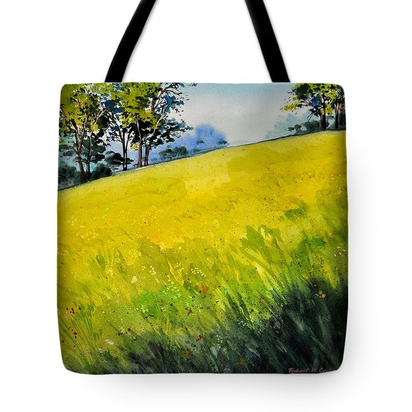 Grassy Hill Side Tote Bag