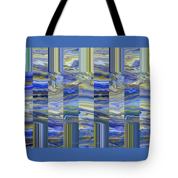 Grate Art - Blue And Green Images - Manipulated Photography Tote Bag