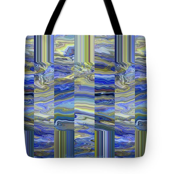 Grate Art - Blues And Greens Tote Bag