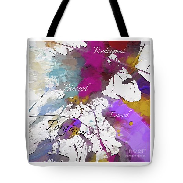 Tote Bag featuring the digital art Grateful To Be by Margie Chapman