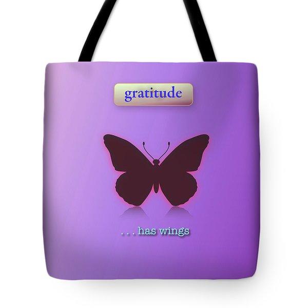 Gratitude Has Wings Tote Bag by Jack Eadon