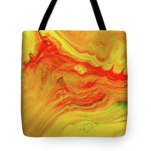 Gratitude - Red And Yellow Colorful Abstract Art Painting Tote Bag