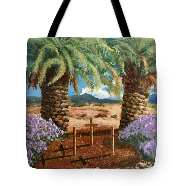 Tote Bag featuring the painting Gratitude Reminder  by Bonnie Heather