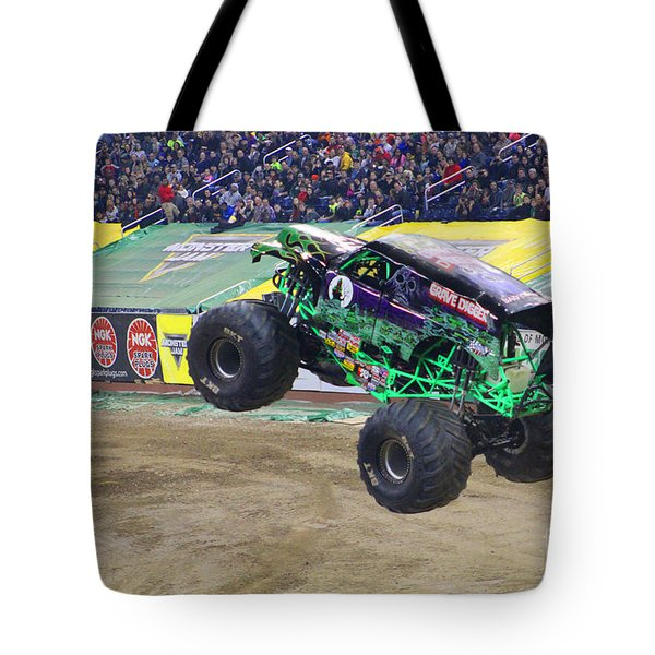 Grave Digger  Tote Bag by Michael Rucker