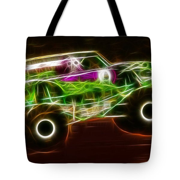 Grave Digger Monster Truck Tote Bag by Paul Van Scott