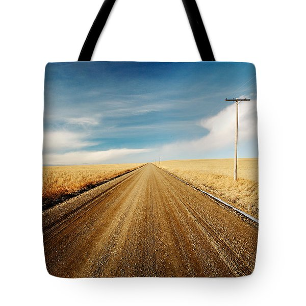 Tote Bag featuring the photograph Gravel Lines by Todd Klassy