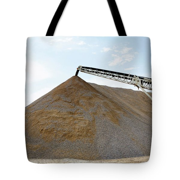 Tote Bag featuring the photograph Gravel Mountain by David Buhler