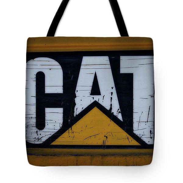 Gravel Pit Cat Signage Hydraulic Excavator Tote Bag