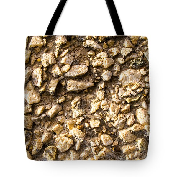 Gravel Stones On A Wall Tote Bag