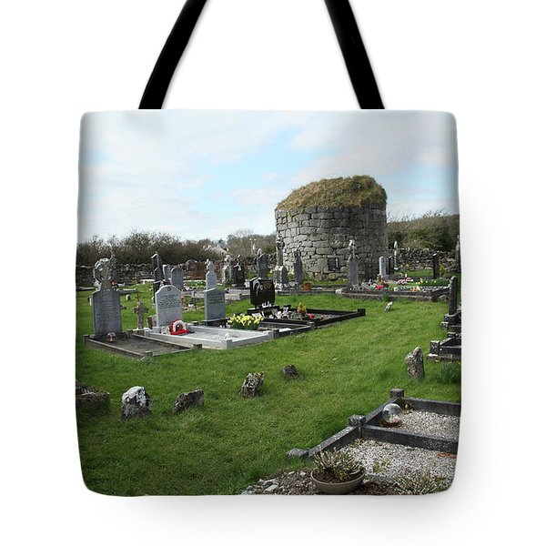 Tote Bag featuring the photograph Graveyard Antigua Iglesia De Killinaboy Ireland by Marie Leslie