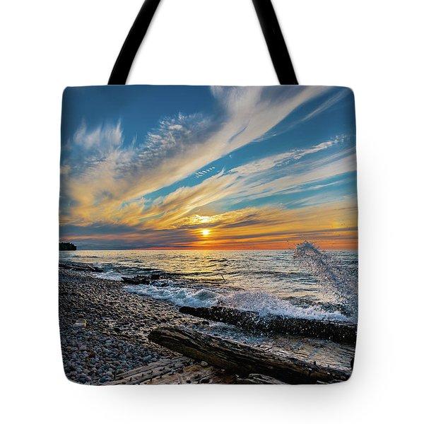 Graveyard Coast Sunset Tote Bag