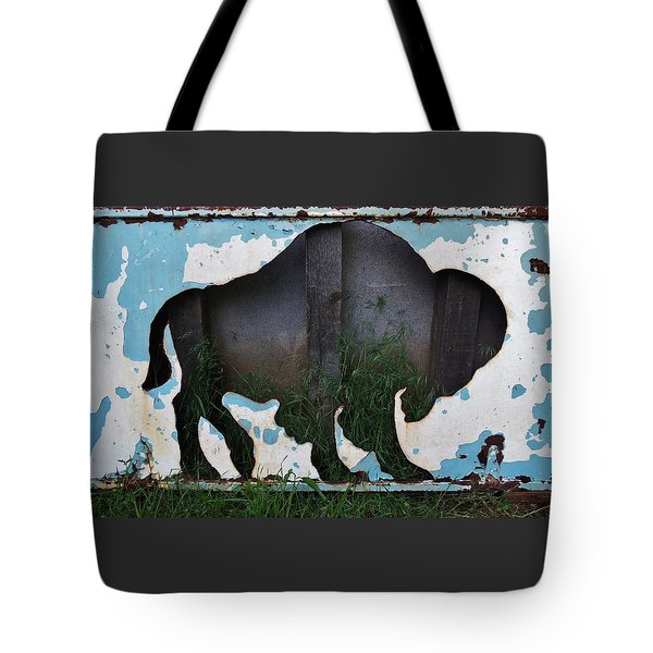 Tote Bag featuring the photograph Gray Buffalo by Larry Campbell