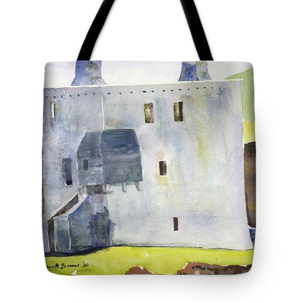 Gray Castle Tote Bag