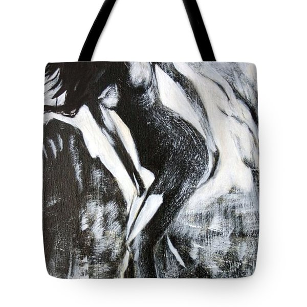 Gray Desert Tote Bag
