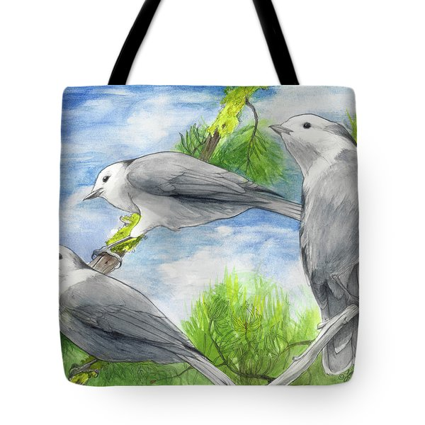 Gray Jays Trio Tote Bag
