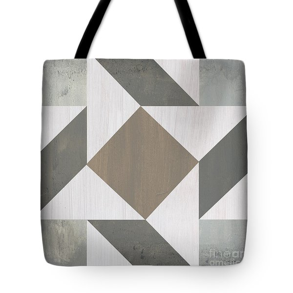 Tote Bag featuring the painting Gray Quilt by Debbie DeWitt