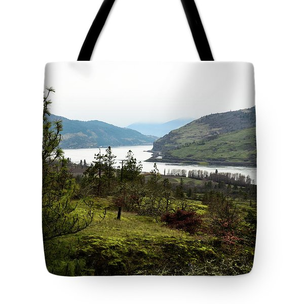 Gray Skies Around The Bend Tote Bag