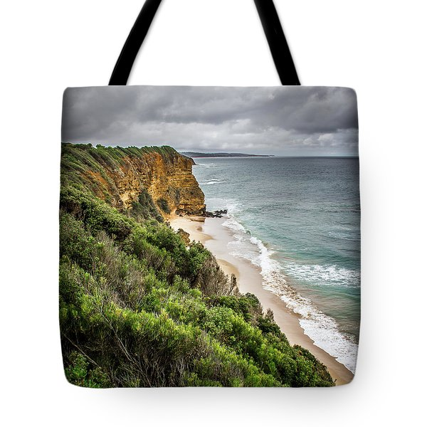 Tote Bag featuring the photograph Gray Skies by Perry Webster