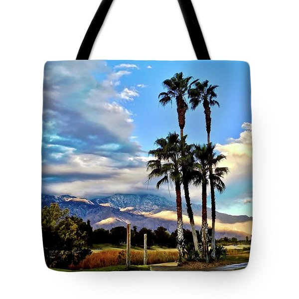 Gray Sky Blue Sky Tote Bag