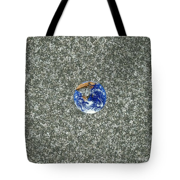 Gray Space Tote Bag