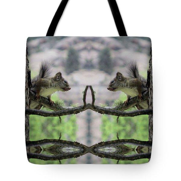 Gray Squirrel Soul Mates Tote Bag