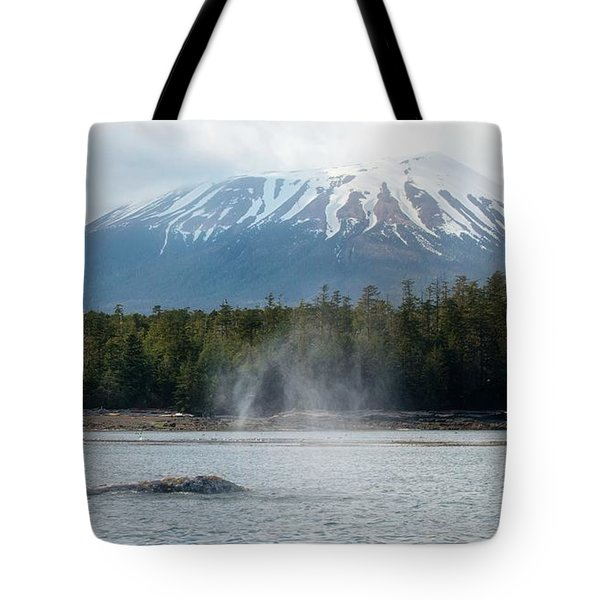 Gray Whale, Mount Edgecumbe Sitka Alaska Tote Bag