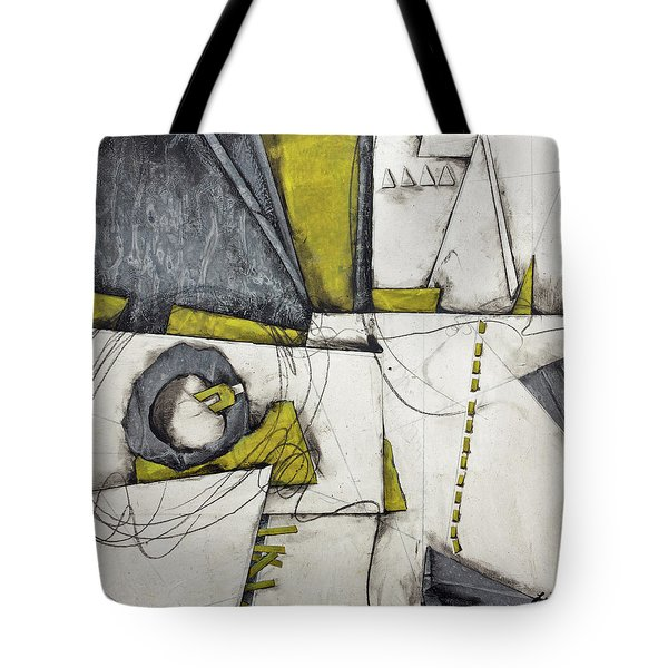 Gray, White, Green Gold  Tote Bag
