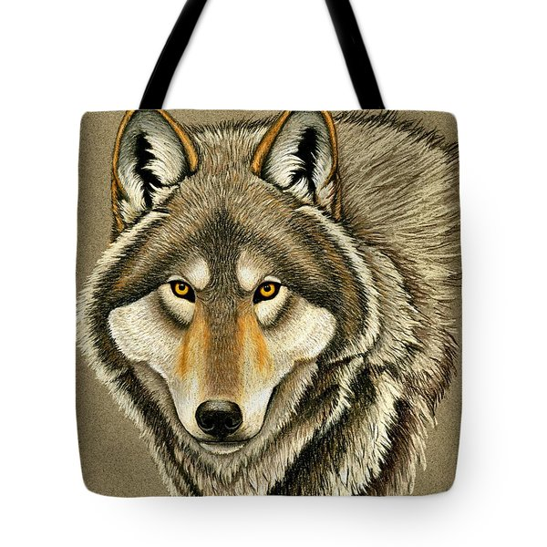 Gray Wolf Portrait Tote Bag