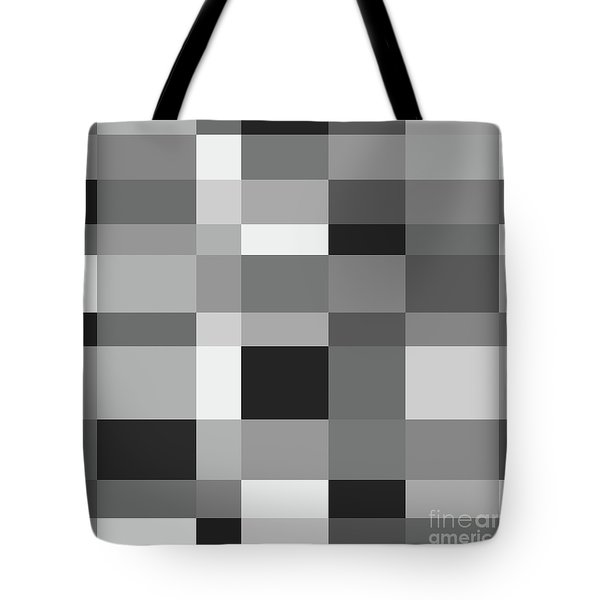 Tote Bag featuring the digital art Grayscale Check by Bruce Stanfield