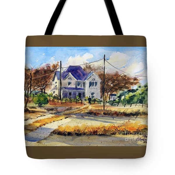Grayson County Farmhouse Tote Bag by Ron Stephens