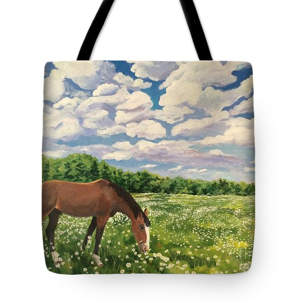 Grazing Among The Daisies Tote Bag