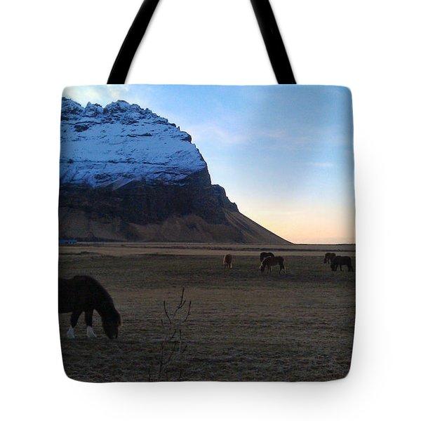 Grazing At Dawn Tote Bag