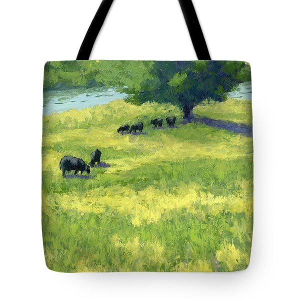 Grazing By The Bear River Tote Bag