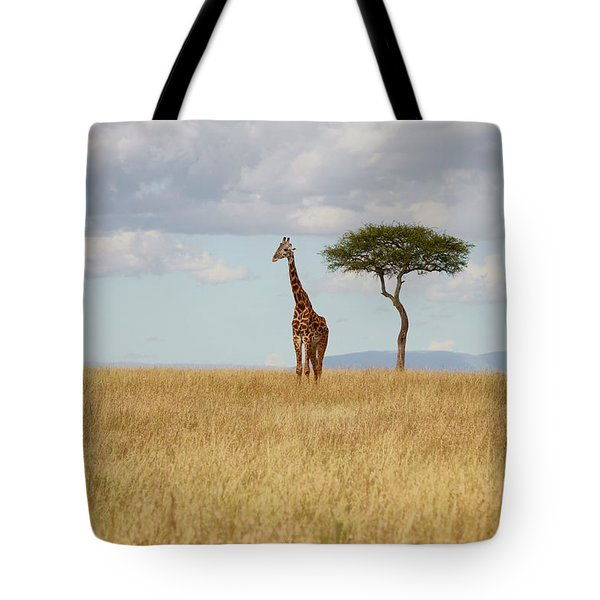 Grazing Giraffe Tote Bag