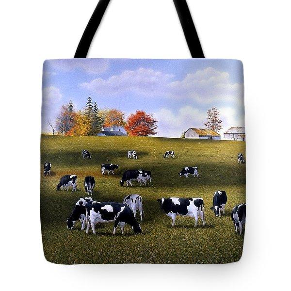 Grazing Holsteins Tote Bag by Conrad Mieschke