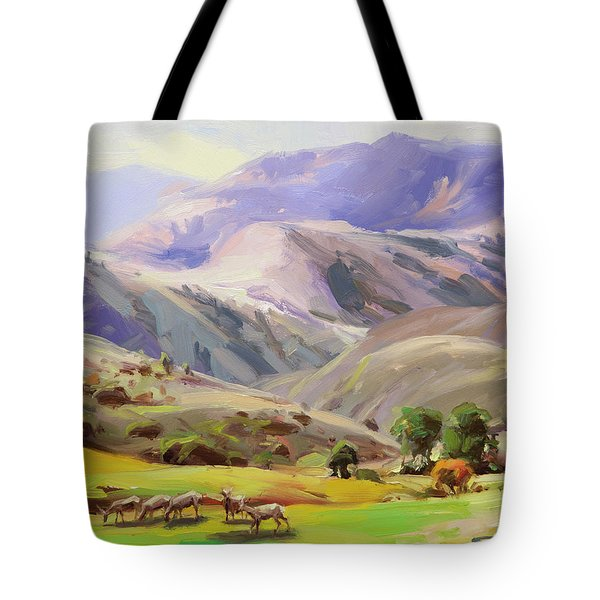 Grazing In The Salmon River Mountains Tote Bag