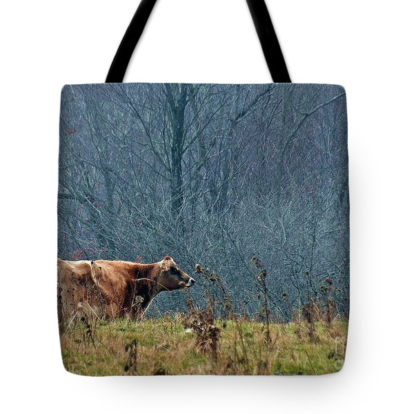 Grazing In Winter Tote Bag by Christian Mattison