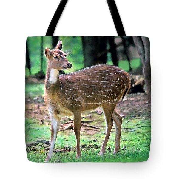 Grazing Tote Bag by Marion Johnson