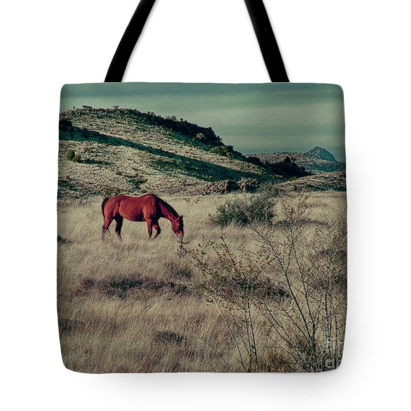 Tote Bag featuring the photograph Grazing Solo by Charles McKelroy