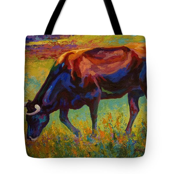 Grazing Texas Longhorn Tote Bag